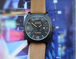 Мужские часы Curren 8158 с календарем (черный)