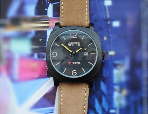Мужские кварцевые часы Curren 8158 с календарем