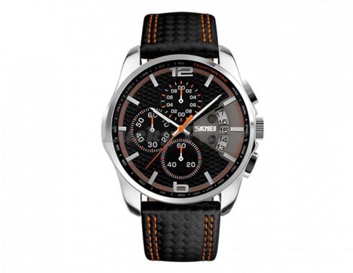 Мужские часы Skmei 9106 (оранжевый)