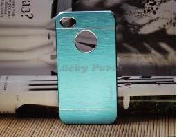 Чехол-бампер для iPhone 4/4S motomo (голубой)