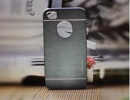 Чехол-бампер для iPhone 4/4S motomo (темно-серый)