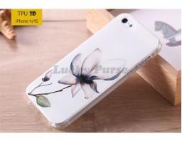 """Чехол-накладка TPU 3D для iPhone 4/4S """"Лотос"""""""