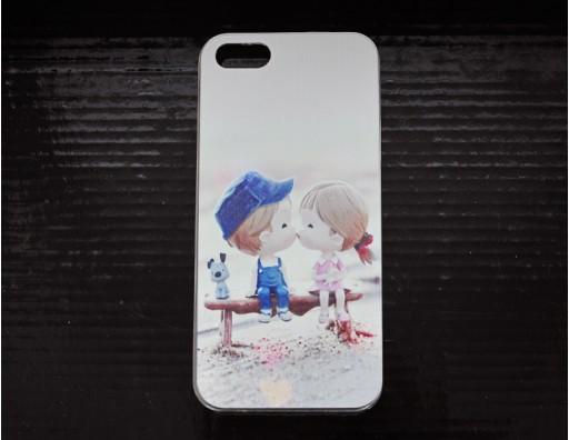 Чехол-бампер для Apple iPhone 5S/5 с рисунком из прозрачного пластика