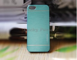 Чехол-бампер для iPhone 5S/5 motomo (голубой)