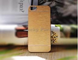 Чехол-бампер для iPhone 5S/5 motomo (золотой)