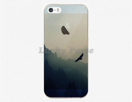 Тонкий чехол из гибкого пластика для iPhone 5S/5 с принтом парящий орел