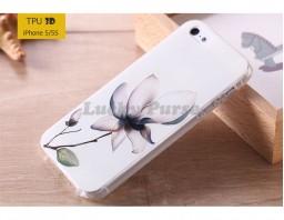 """Чехол-накладка TPU 3D для iPhone 5S/5 """"Лотос"""""""