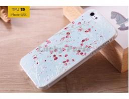 "Чехол-накладка TPU 3D для iPhone 5S/5 ""Сакура"""