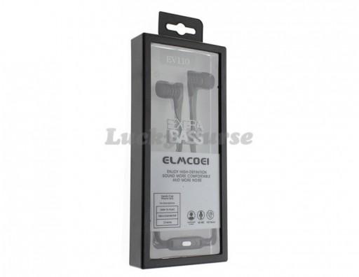 Наушники ELMCOEI EV110 с микрофоном 3.5мм (черный)