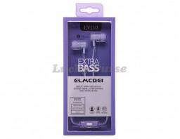 Наушники с микрофоном ELMCOEI EV110 (фиолетовый)