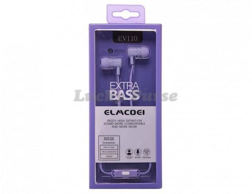 Наушники ELMCOEI EV110 с микрофоном 3.5мм (фиолетовый)