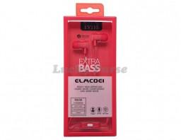 Наушники с микрофоном ELMCOEI EV110 (красный)