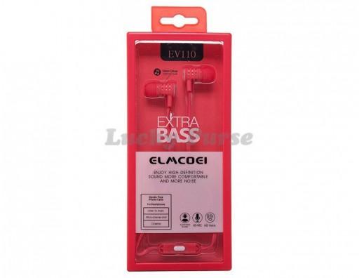 Наушники ELMCOEI EV110 с микрофоном 3.5мм (красный)