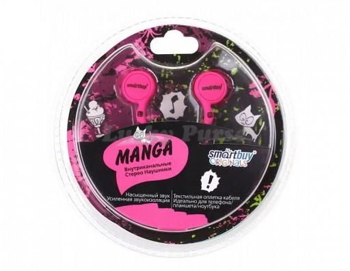 Наушники 3.5 мм Smartbuy MANGA (пурпурный)