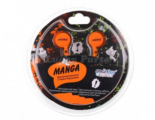 Наушники 3.5 мм Smartbuy MANGA (оранжевый)