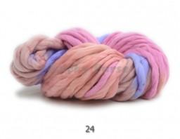Очень толстая пряжа для вязания.  Цвет меланж №24
