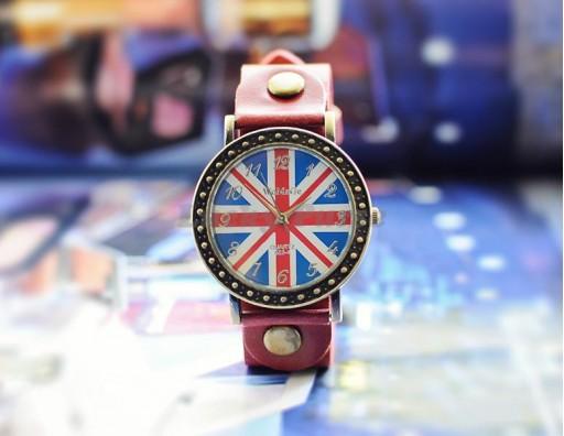 Женские часы WOMAGE 523-4 Union Jack (красный)