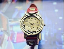 Женские часы WOMAGE A577 Кошка (красный)