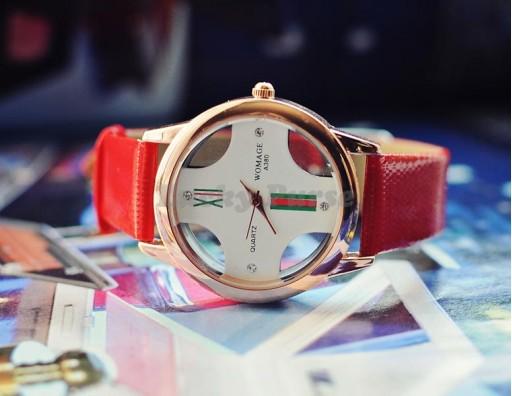 Женские часы WOMAGE A380  (красный)