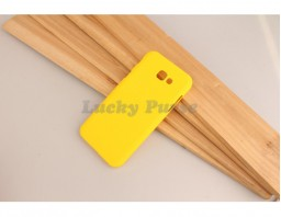 Чехол накладка для Samsung Galaxy A3 2017 (желтый)