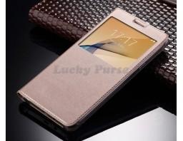 Чехол-книжка для Samsung Galaxy A3 2017 (золотой)