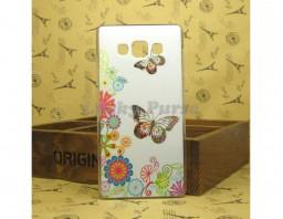 """Чехол-бампер для Samsung Galaxy A7 """"Butterflies"""""""