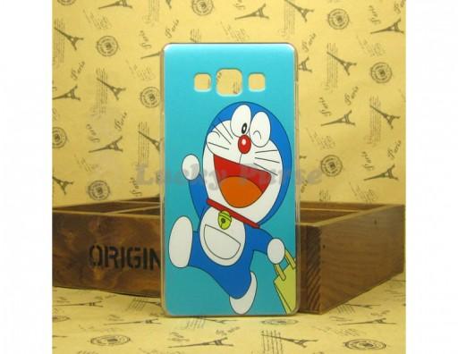 "Бампер для Samsung Galaxy A7 c принтом ""Дораэмон"""
