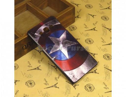 "Бампер для Samsung Galaxy A7 c принтом ""Капитан Америка"""