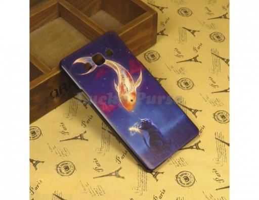 """Бампер для Samsung Galaxy A7 c принтом """"Золотая рыбка"""""""