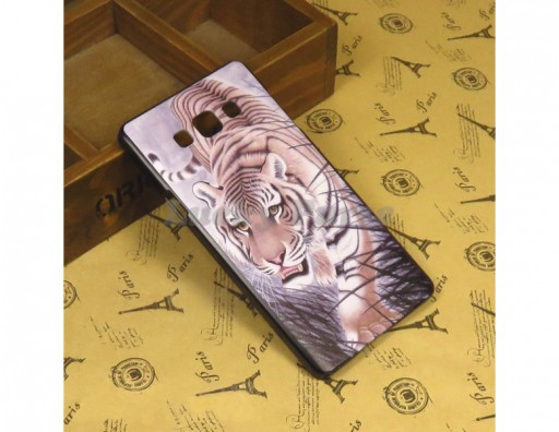 "Бампер для Samsung Galaxy A7 c принтом ""Тигр"""