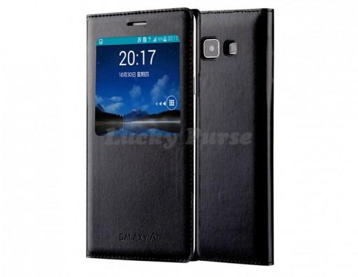 S-View чехол для Samsung Galaxy A7 SM-A700 (черный)