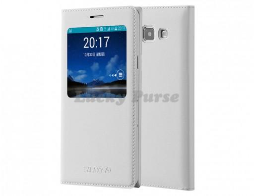 S-View чехол для Samsung Galaxy A7 SM-A700 (белый)