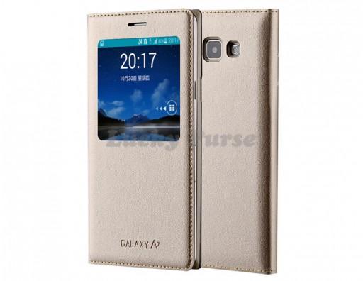 S-View чехол для Samsung Galaxy A7 SM-A700 (золотой)