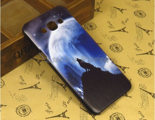 """Бампер для Samsung Galaxy A8 c принтом """"Одинокий волк"""""""