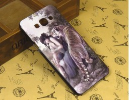 "Чехол-бампер для Samsung Galaxy A8 ""Tiger and girl"""