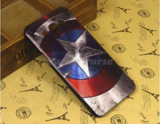 "Бампер для Samsung Galaxy A8 c принтом ""Капитан Америка"""