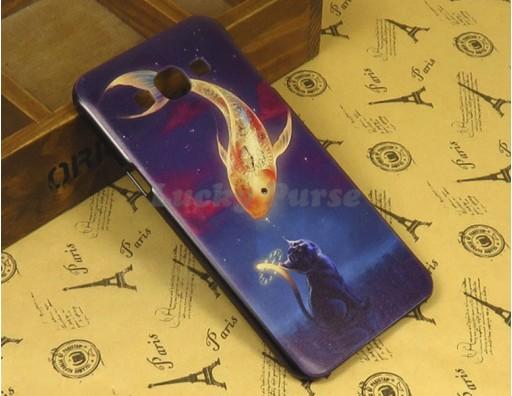 """Бампер для Samsung Galaxy A8 c принтом """"Золотая рыбка"""""""