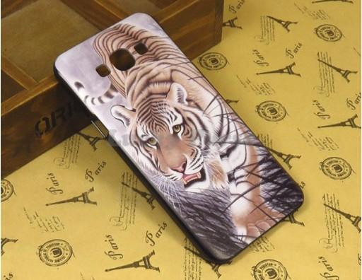 "Бампер для Samsung Galaxy A8 c принтом ""Тигр"""