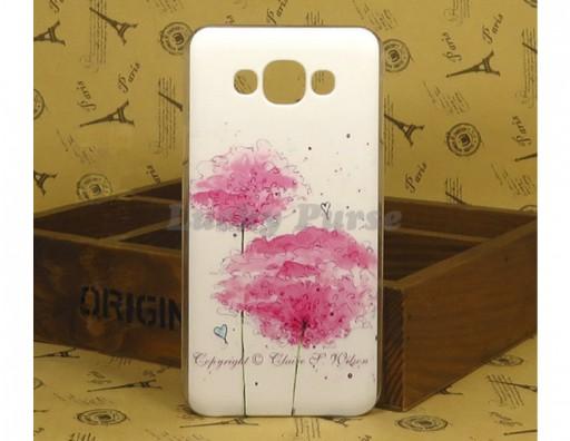 """Чехол для Samsung Galaxy E7 Duos """"Розовые цветы"""""""