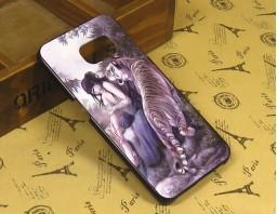 "Чехол-бампер для Galaxy S6 Edge ""Tiger and girl"""