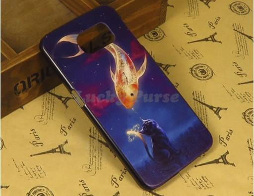 """Бампер для Samsung Galaxy S6 c принтом """"Золотая рыбка"""""""