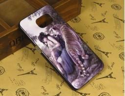 """Чехол-бампер для Samsung Galaxy S6 """"Tiger and girl"""""""