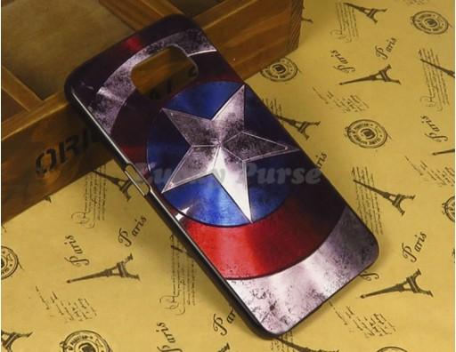 "Бампер для Samsung Galaxy S6 c принтом ""Капитан Америка"""