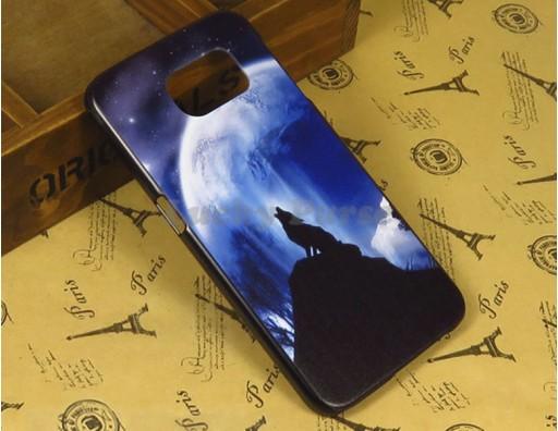 """Бампер для Samsung Galaxy S6 c принтом """"Одинокий волк"""""""