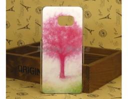 """Чехол-накладка для Galaxy S6 Edge+ """"Pink Tree"""""""