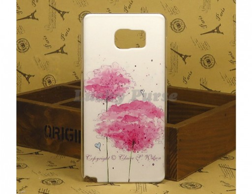 "Чехол для Samsung Galaxy Note 5 ""Розовые цветы"""