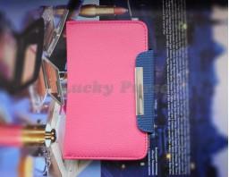 """Универсальный чехол книжка для 5.0""""-5.3"""" смартфонов (розовый)"""