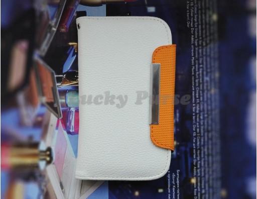 """Универсальный защитный чехол-книжка для 4.3""""-4.7"""" смартфонов с отсеками под карточки"""