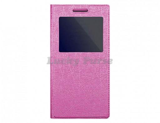 """Универсальный чехол книжка для 4.7""""-5.1"""" смартфонов, розовый"""