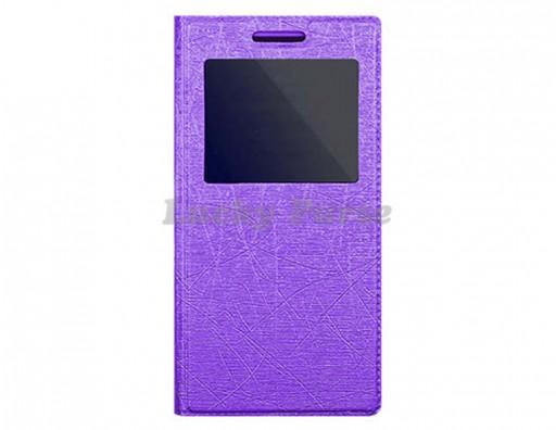 """Универсальный чехол книжка для 5.7""""-6.0"""" смартфонов, фиолетовый"""